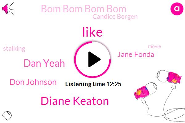 Diane Keaton,Dan Yeah,Don Johnson,Jane Fonda,Bom Bom Bom Bom,Candice Bergen,Stalking,Officer,Donald Johnson,Google,Croup,Bergen,Kansas,Buca Di Beppo,Mary Steenburgen,LA,Andy Garcia,Senator,Honky
