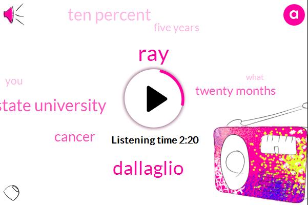 RAY,Dallaglio,Ohio State University,Cancer,Twenty Months,Ten Percent,Five Years