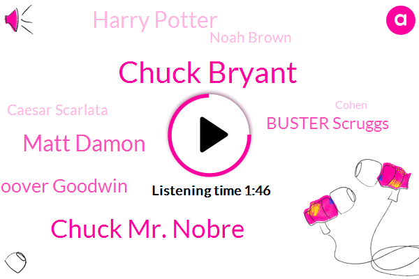 Chuck Bryant,Chuck Mr. Nobre,Matt Damon,Hoover Goodwin,Buster Scruggs,Harry Potter,Noah Brown,Caesar Scarlata,Cohen
