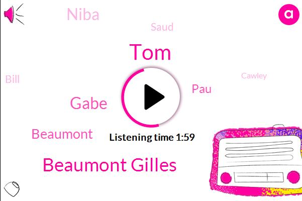 TOM,Beaumont Gilles,Gabe,Beaumont,PAU,Niba,Saud,Bill,Cawley,Lyda,Nick,Ana Grant,Glen Oaks,Jane