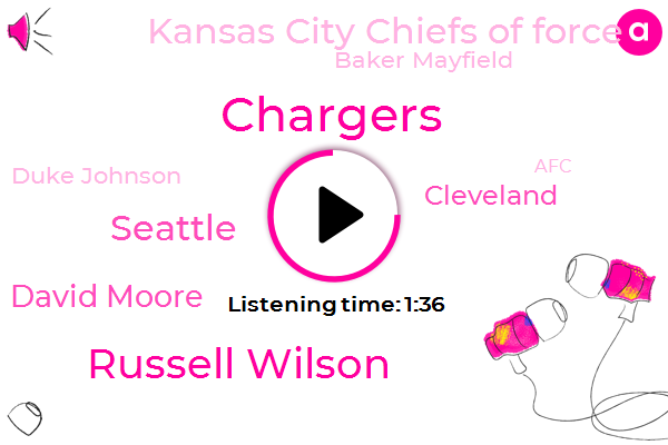Chargers,Russell Wilson,Seattle,David Moore,Cleveland,Kansas City Chiefs Of Force,Baker Mayfield,Duke Johnson,AFC,Centurylink Field,Arizona,Melvin Gordon,LA,Two Hundred Ninety Seven Yards,Five Yards