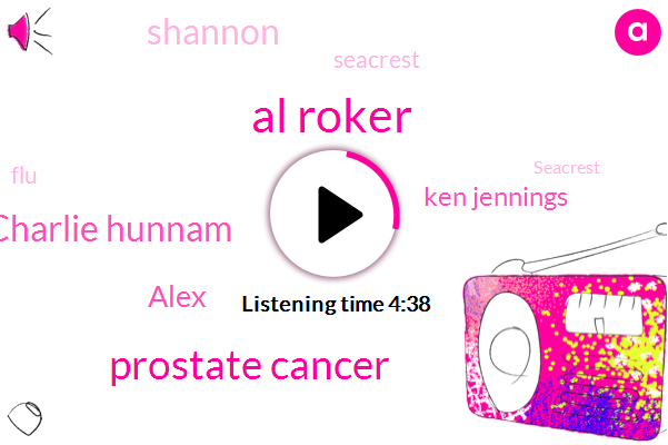 Al Roker,Prostate Cancer,Charlie Hunnam,Alex,Ken Jennings,Shannon,Seacrest,FLU,New York City,NBC,Burt,DOT,JOE,Kimmel