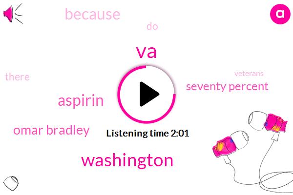 VA,Washington,Aspirin,Omar Bradley,Seventy Percent