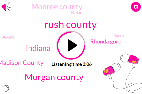 Rush County,Morgan County,Indiana,Madison County,Rhonda Gore,Monroe County,Katie,Avon,Russia,Richmond,Eagle Creek Parkway,Steed,Owen Green,Barthelemy,Pam Johnson,Naval Hospital,Decatur,Fayette,Wayne