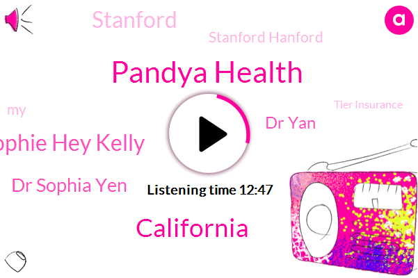 Pandya Health,California,Sophie Hey Kelly,Dr Sophia Yen,Dr Yan,Stanford,Stanford Hanford,Tier Insurance,FDA,Medicaid,Gear Delis