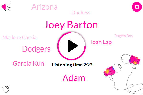 Joey Barton,Adam,Dodgers,Garcia Kun,Ioan Lap,Arizona,Duchess,Marlene Garcia,Rogers Boy,Watson,ROD