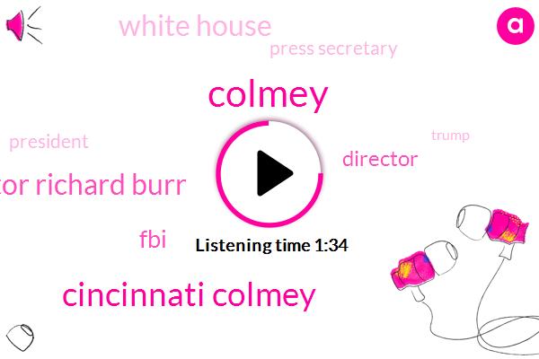 Cincinnati Colmey,Senator Richard Burr,FBI,Director,Colmey,White House,Press Secretary,President Trump,Donald Trump,Mark Kasprowicz,James Comey,Sarah Huckabee Sanders,Michael Flynn,Seven Hundred W
