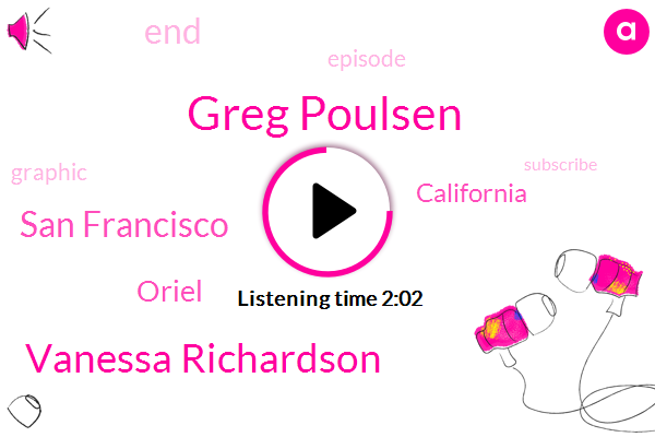 Greg Poulsen,Vanessa Richardson,San Francisco,Oriel,California