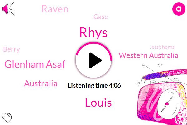 Rhys,Louis,Glenham Asaf,Australia,Western Australia,Raven,Gase,Berry,Jesse Horns,Horsely,Doncaster,Newmarket,Kate,Three Year