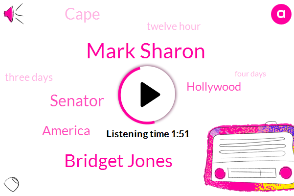 Mark Sharon,Bridget Jones,Senator,America,Hollywood,Cape,Twelve Hour,Three Days,Four Days