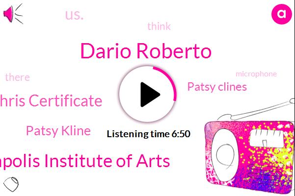 Dario Roberto,Minneapolis Institute Of Arts,Chris Certificate,Patsy Kline,Patsy Clines,US.