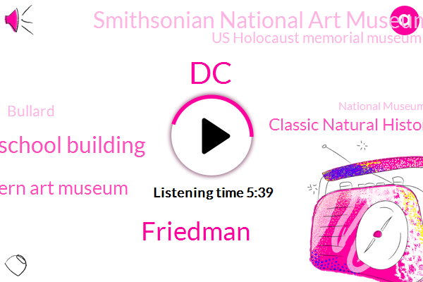 DC,Friedman,Franklin School Building,Modern Art Museum,Classic Natural History Museum,Smithsonian National Art Museum,Us Holocaust Memorial Museum,Bullard,National Museum Of African American History,National Museum,American History Museum,Muriel Bowser,WMU,Jonathan.,Willow Tree,Venezuela,Eric Kahn,Developer