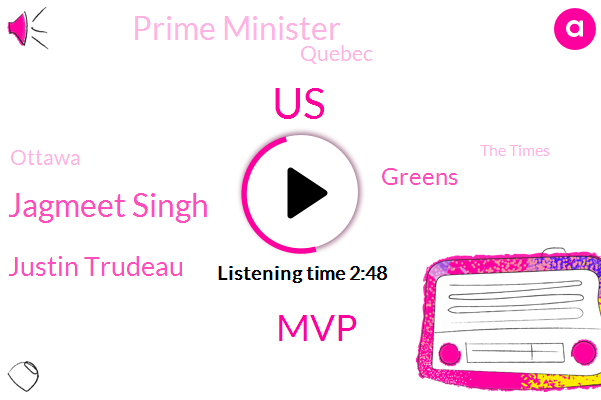 United States,Jagmeet Singh,MVP,Justin Trudeau,Greens,Prime Minister,Quebec,Ottawa,The Times