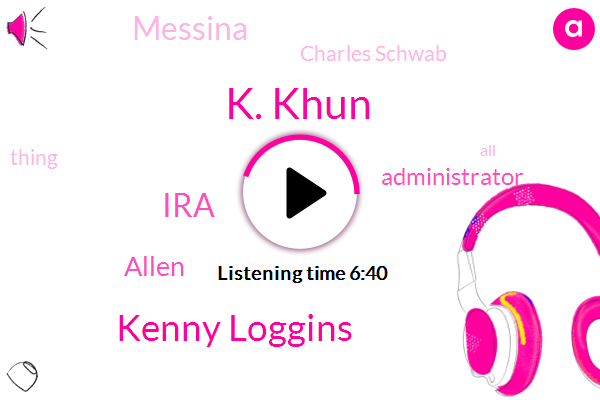 K. Khun,Kenny Loggins,IRA,Allen,Administrator,Messina,Charles Schwab