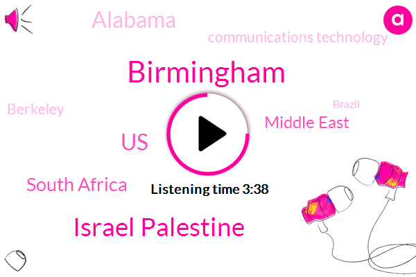 Birmingham,Israel Palestine,United States,South Africa,Middle East,Alabama,Communications Technology,Berkeley,Brazil,Central America,Mike