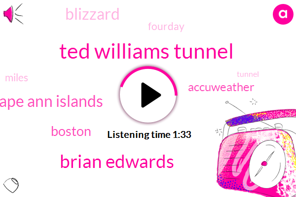 Ted Williams Tunnel,Brian Edwards,Cape Ann Islands,Boston,Accuweather,Blizzard,Fourday