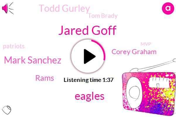 Jared Goff,Mark Sanchez,Eagles,Rams,Corey Graham,Todd Gurley,Tom Brady,Patriots,MVP,NFL,Five Minutes,Three Weeks