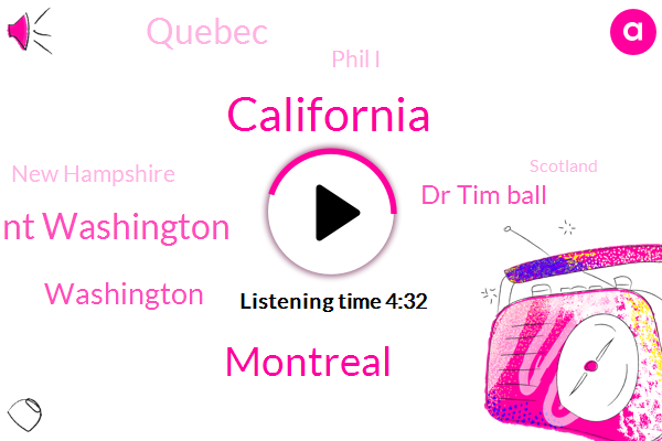 California,Montreal,Mount Washington,Washington,Dr Tim Ball,Quebec,Phil I,New Hampshire,Scotland,Canada,Siberia,Georgia,One Hundred Ten Degrees,Forty Seven Years