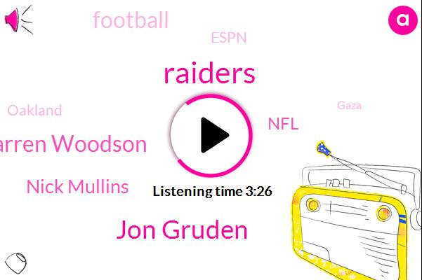 Jon Gruden,Raiders,Darren Woodson,Nick Mullins,NFL,FOX,Football,Espn,Oakland,Gaza,Vilma,Zero Dollars