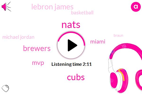 Nats,Cubs,Brewers,MVP,Miami,Lebron James,Basketball,Michael Jordan,Braun,Milwaukee,Steph Curry,Kevin Durant,Tom Brady,Five Years,Ten Days