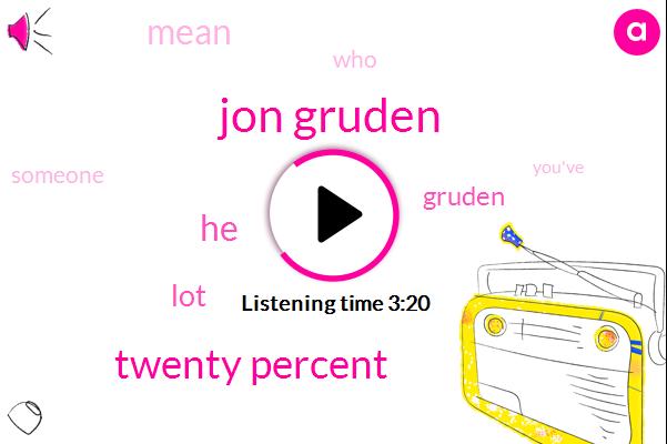 Jon Gruden,Twenty Percent