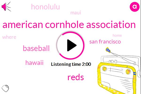 American Cornhole Association,Reds,Baseball,Hawaii,San Francisco,Honolulu,Maui