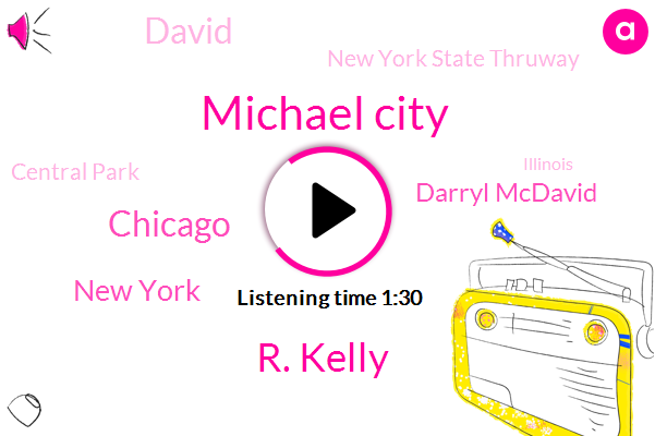 Michael City,R. Kelly,Chicago,New York,Darryl Mcdavid,David,New York State Thruway,Central Park,Illinois,Seventy Four Degrees,Eighty Nine Degrees,Ninety Two Degrees,Fifty Two Year,Ten Minutes