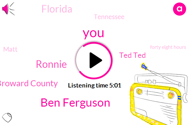 Ben Ferguson,Ronnie,Broward County,Ted Ted,Florida,Tennessee,Matt,Forty Eight Hours,Forty Eight Hour