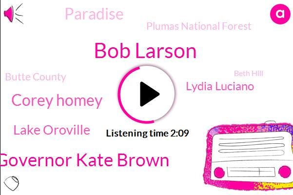 Bob Larson,Governor Kate Brown,Corey Homey,Lake Oroville,Lydia Luciano,Paradise,Plumas National Forest,Butte County,Beth Hill,Manhattan,Mohr,Tim Ryan,CBS,Phoenix,Oregon,California