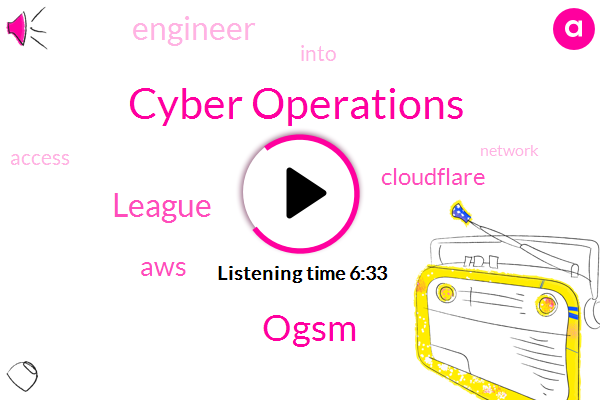 Cyber Operations,Ogsm,League,AWS,Cloudflare,Engineer
