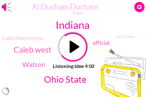 Indiana,Ohio State,Caleb West,Watson,Official,Al Durham Durham,DAN,Caleb Washington,Al Durham,Albarn,Reebok,Justice Ruth,Caleb,Doi- Morgan,Ohio,Muhammad,Mussa Jallow,Billow,Rob Fitoussi,Justin Smith