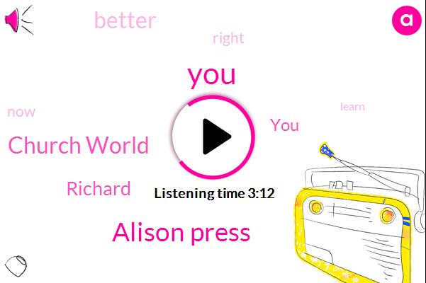 Alison Press,Church World,Richard
