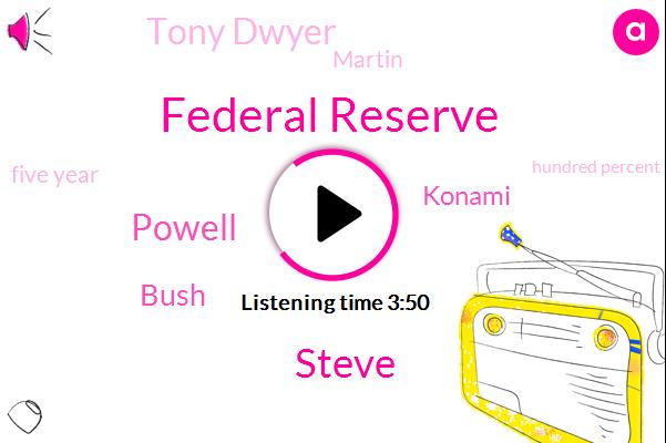 Federal Reserve,Steve,Powell,Bush,Konami,Tony Dwyer,Martin,Five Year,Hundred Percent,Three Percent