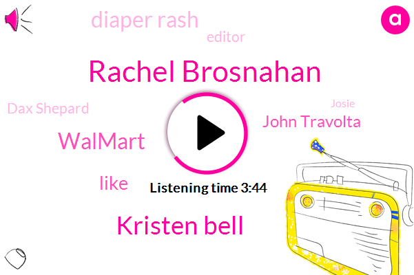 Rachel Brosnahan,Kristen Bell,Walmart,John Travolta,Diaper Rash,Editor,Dax Shepard,Josie,Affil,Phil,Jessica Alba,Arkansas,Candice Baldwin,Jared,Bello,Christabel,Avila