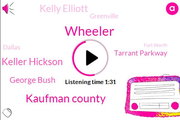 Wheeler,Kaufman County,Keller Hickson,George Bush,Tarrant Parkway,Kelly Elliott,Greenville,Dallas,Fort Worth,Arlington,John,Thirty Five W,Forty Five Minute