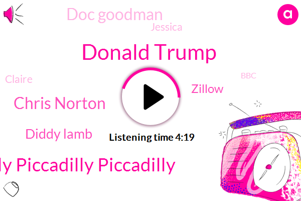 Donald Trump,Piccadilly Piccadilly Piccadilly,Chris Norton,Diddy Lamb,Zillow,Doc Goodman,Jessica,Claire,BBC,William Rennick,Phil Henry