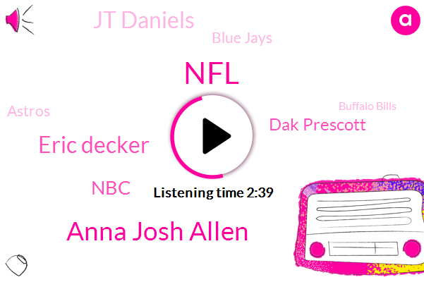 Anna Josh Allen,NFL,Eric Decker,NBC,Dak Prescott,Jt Daniels,Blue Jays,Astros,Buffalo Bills,Cowboys,Tiger Woods,Arezzo,Ezekiel,Yorkers,David Johnson,Northern Trust,National League,Yankees,Fedex