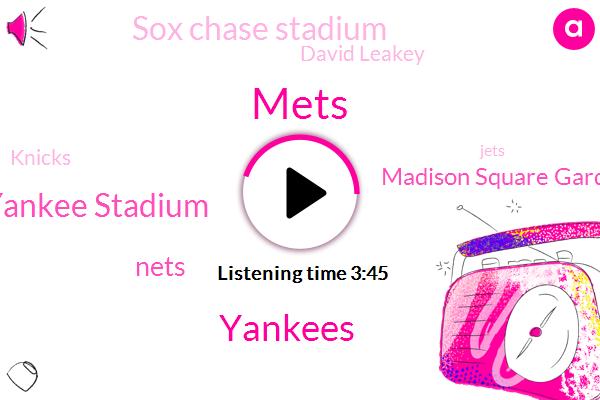 Mets,Yankees,Yankee Stadium,Nets,Madison Square Garden,Sox Chase Stadium,David Leakey,Knicks,Jets,Nixon,Steve,Caitlyn,Bucknor,Cates,Buckner,Nixon Rangers,Mike,Dana,Kate,Ninety Five Percent