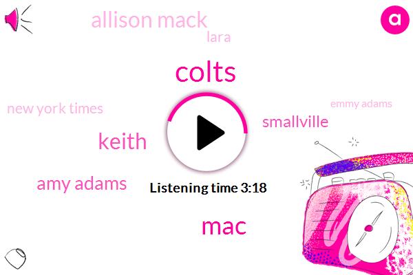 Colts,MAC,Keith,Amy Adams,Smallville,Allison Mack,Lara,New York Times,Emmy Adams,Atlanta