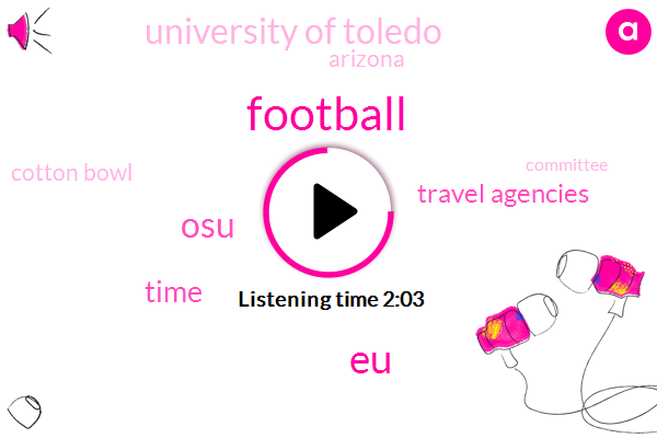 Football,EU,OSU,Travel Agencies,Time,University Of Toledo,Arizona,Cotton Bowl,Committee,Holland,Texas,Fiesta Bowl,House,People