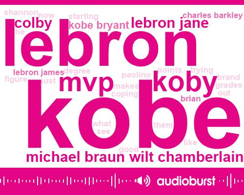 Lebron,Koby,Kobe,MVP,Michael Braun Wilt Chamberlain,Colby,Lebron Jane,Kobe Bryant,Charles Barkley,Lebron James,Brian