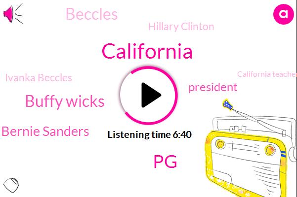 California,PG,Buffy Wicks,Hillary Clinton Bernie Sanders,President Trump,Hillary Clinton,Beccles,Ivanka Beccles,California Teachers Association,Beckles,Barack Obama,Federal Government,Sierra Club,Yuba County,Jerry Brown,Jill Stein,Kosta Hawkins,Kpfa,Kamala Harris