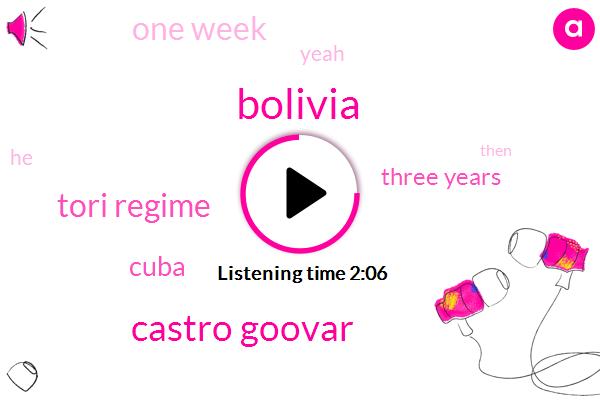 Bolivia,Castro Goovar,Tori Regime,Cuba,Three Years,One Week