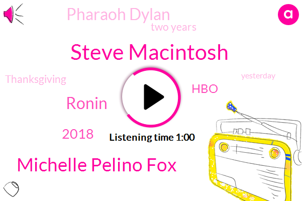 Steve Macintosh,Michelle Pelino Fox,Ronin,2018,HBO,Pharaoh Dylan,Two Years,Thanksgiving,Yesterday,Moses,More Than One Million Viewers,Woody Allen Suni,30 Year Old,Pharaoh,Dylan Farrow,Almost Two Years,Versus,Allen,RE