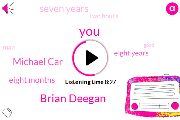 Brian Deegan,Michael Car,Eight Months,Eight Years,Seven Years,Two Hours