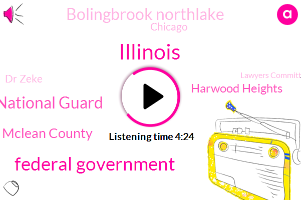 Federal Government,Illinois,Illinois National Guard,Mclean County,Harwood Heights,Bolingbrook Northlake,Chicago,Dr Zeke,Lawyers Committee For Civil Rights,Joliet,I Systems,Department Of Public Health