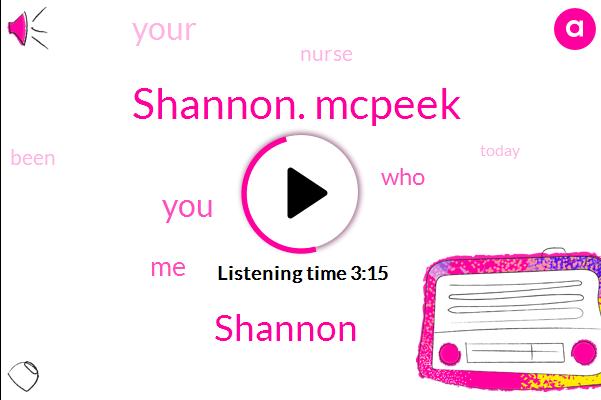 Shannon. Mcpeek,Shannon