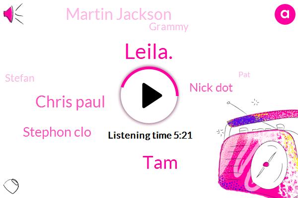 Leila.,TAM,Chris Paul,Stephon Clo,Nick Dot,Martin Jackson,Grammy,Stefan,PAT,Blake,TOM