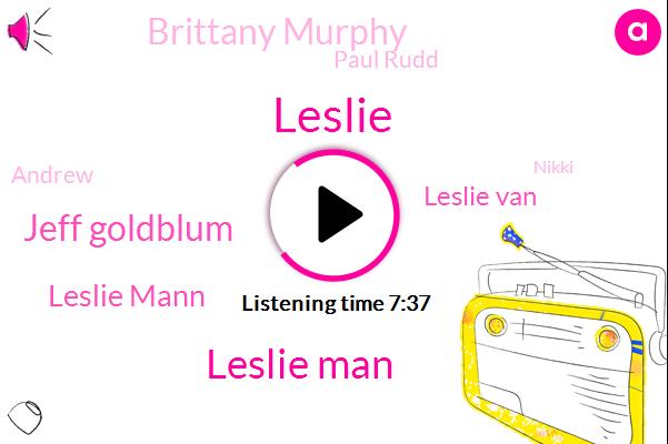 Leslie,Leslie Man,Jeff Goldblum,Leslie Mann,Leslie Van,Brittany Murphy,Paul Rudd,Andrew,Nikki,Dickey,Mickey,Jennifer,Judd,Justin,JOE,Forty Year
