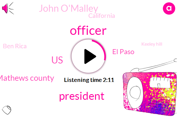 Officer,ABC,President Trump,United States,Mathews County,El Paso,John O'malley,California,Ben Rica,Keeley Hill,Tara Palmeri,NBC,Federal Government,El Salvador,Hanover,Meghan,Guatemala,L Paso,Honduras